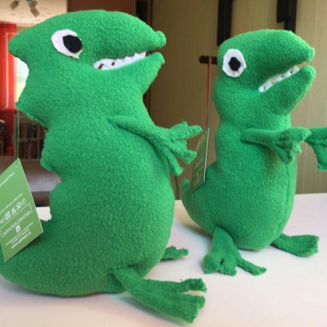 зеленый динозавр upotoys